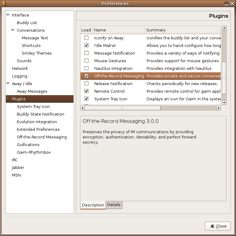 Setting up OTR on Ubuntu