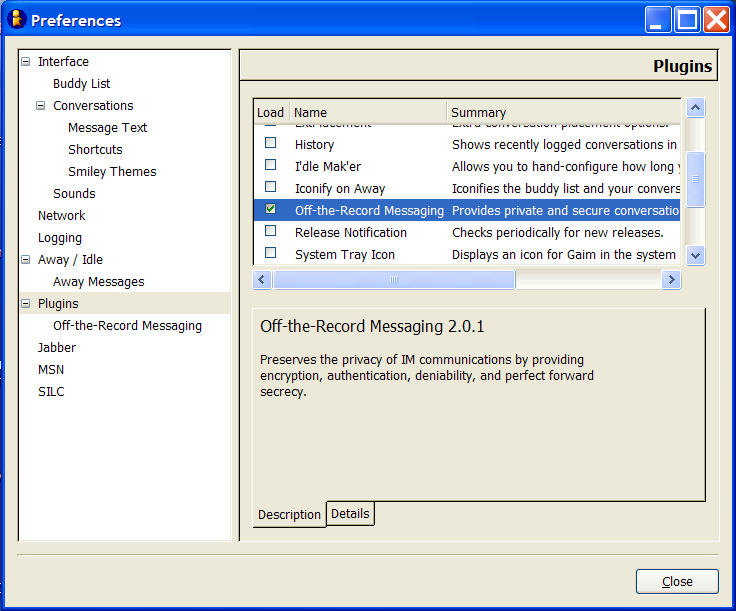 Setting up OTR on Windows